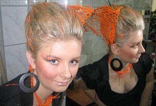 Fryzury konkursowe damskie
